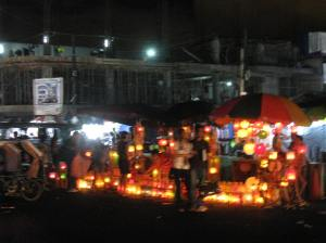 the market at night