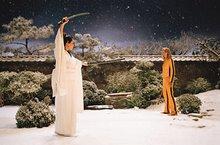 Kill Bill snow garden fight