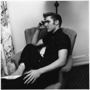 Elvis Presley side view chair Miami, 1956
